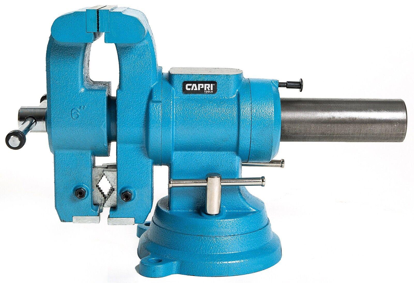 "Capri Tools 10519 Rotating Base and Head Bench Vise, 6"""
