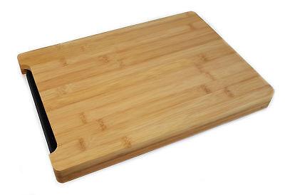 Tranchierbrett Schneidebrett Küchenbrett Holzschneidebrett Bambus Saftrille Holz