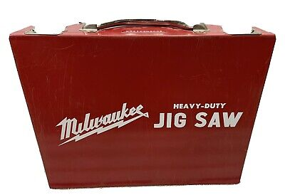Vintage Milwaukee Heavy Duty Jig Saw Case Only Metal Great Shape