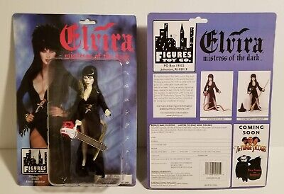 Toys & Co (Elvira Mistress Of Dark with Snake and Chainsaw by Figures Toy Co MOC 1998)