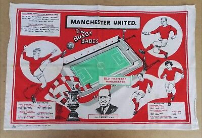 MANCHESTER UNITED  BEAUTIFUL BUSBY BABES TEA TOWEL 28