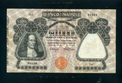 Italy (Banco di Napoli) 1000 lire 1915 - F+