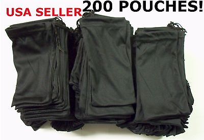 Cheap Bulk Lot 200 Black Micro Fiber Sunglasses Carrying Pouch Case Bag Sleeve