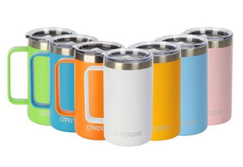 Ezprogear 24 oz Stainless Steel Mug Tumbler Vacuum Insulated W/Handle and Lid