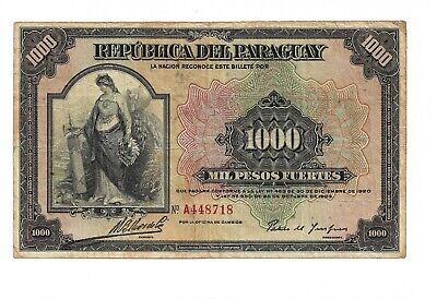 Paraguay p-155 , F , 1000 Pesos , L. 1923 for sale  Shipping to Canada