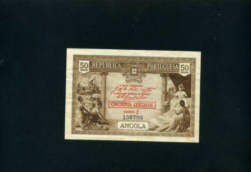 Angola 50 centavos 1923 - VF+