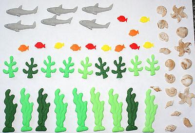 Fish Cake Decorations (Birthday loose cake decorations, under the sea, shark, fish cake)