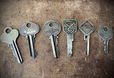 Vintage 1940s 50s Brass Keys Eagle Curtis National Jeco Padlock Lock Box