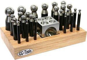 40203 GG-Tools  Kugelpunzen  Würfelanke 24er-Satz   Holzständer