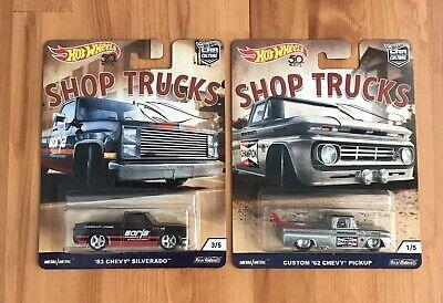 Hot Wheels 2018 Car Culture Shop Trucks '83 Chevy Silverado Custom '62 Chevy