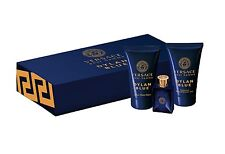 Versace Dylan Blue 5 ml EDT Mens cologne + 25 ml gel & after shave Gift SET