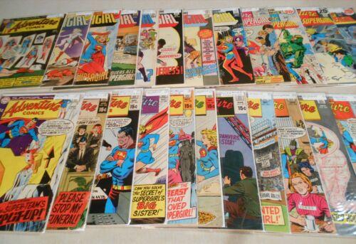 Lot of 23 Adventure Comics #382-424 Supergirl 1969-1972 DC Neal Adams