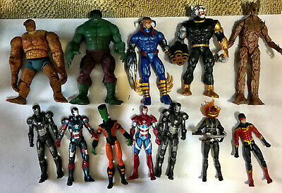 12 Loose 6 Inch Marvel Legends action figures Groot, Thing, Hulk & others