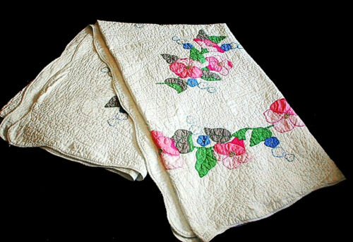 19th Century New York FLORAL QUILT