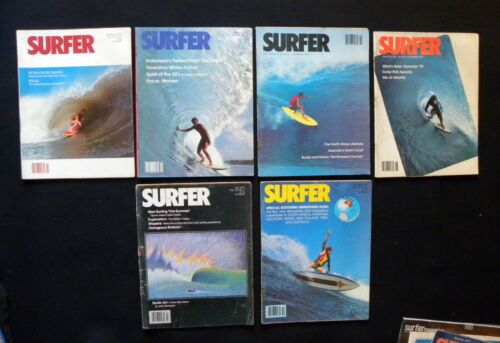 SURFER MAGAZINE 1979 VOL 20  LOT OF 6 ISSUES SURFER LONGBOARDING  HAWAII