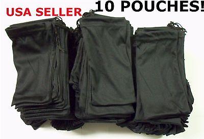 10 Black Micro Fiber Sunglasses Sunglass Carrying Pouch Case Bag Storage Sleeve
