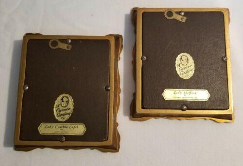 Vintage A Cameo Creation Gold Framed Lady Cynthia Capel Lady Sheffield - $49.99