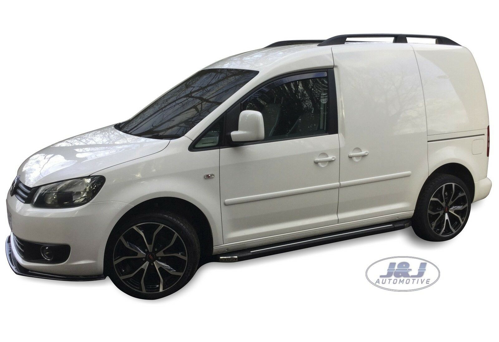 VW CADDY WIND DEFLECTORS DARK TINT FRONT LEFT AND FRONT RIGHT 2005 ON SET OF 2