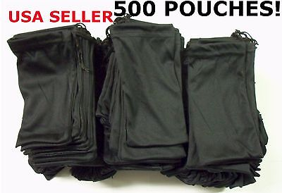 Cheap Bulk Lot 500 Black Micro Fiber Sunglasses Carrying Pouch Case Bag Sleeve