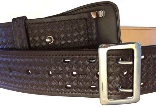 Don Hume B 101 Basket Weave Duty Brown Belt Size 38