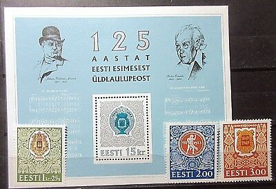 Estonia 1994 125th Song Festival Set & Mini Sheet. MNH.