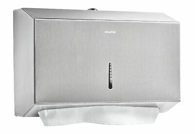 Alpine Stainless Steel Paper Towel Dispenser 200 C-fold 275 Multifold Capacity