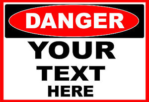 DANGER-YOUR-TEXT-HERE-OSHA-Decal-Free-Shipping