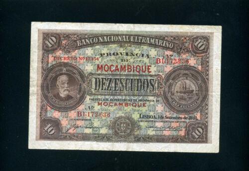 Mozambique 10 escudos 1941 - VF