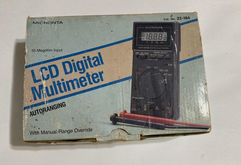 Micronta LCD Digital Multimeter  Autoranging No 22-184