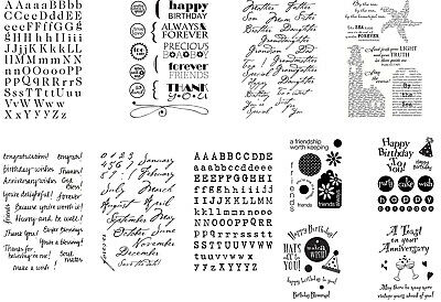 My Sentiments Exactly Clear Cling Stamps - Alphabet Family Sentiments FREEPOST