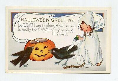 Joyeux Halloween . Citrouille et corbeaux