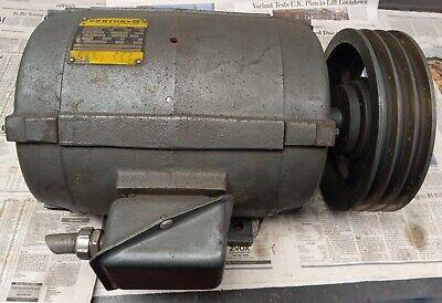 Century 10 Hp Electric Motor 6-323242-01 230v 3 Phase 215t Frame Belt Wheel