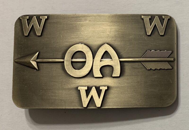 Boy Scout Order Of The Arrow Brass Belt Buckle Brand New.