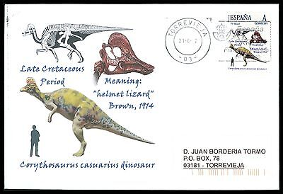 Dinosaurier-custom (SPAIN DINOSAUR DINOSAURE DINOSAURIER - CUSTOM STAMP - ONLY 5 COVER MADE!! cg37)