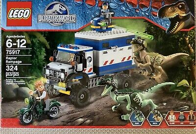 LEGO Jurassic World Raptor Rampage (75917) Retired- Pre-owned, Complete w/Box