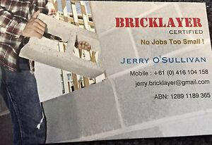 BRICKLAYER 18 years Experience. Qualified CALL NOW FREE QUOTE Glenelg North Holdfast Bay Preview
