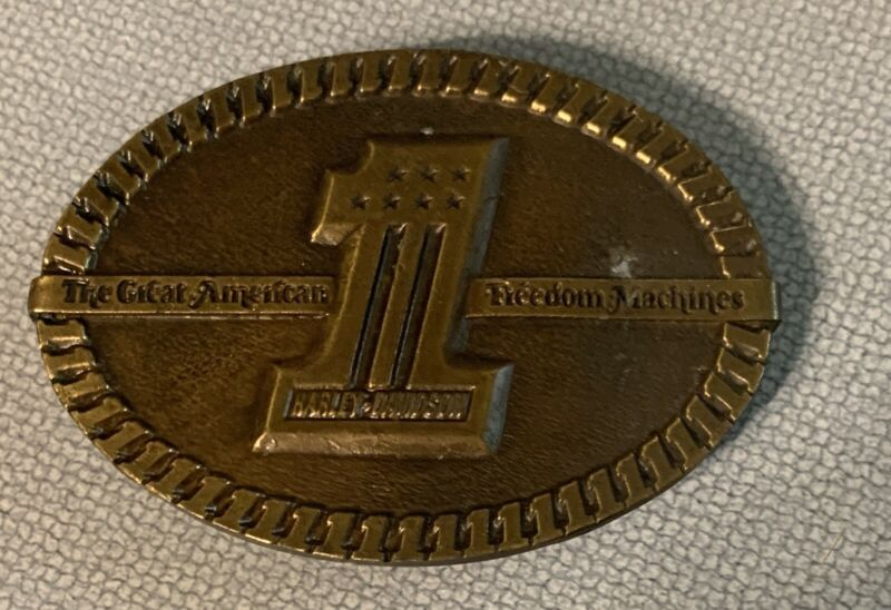 1974 HARLEY DAVIDSON # 1 The Great American Freedom Machine Bergamot BELT BUCKLE