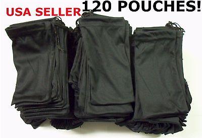 Cheap Bulk Lot 120 Black Micro Fiber Sunglasses Carrying Pouch Case Bag Sleeve