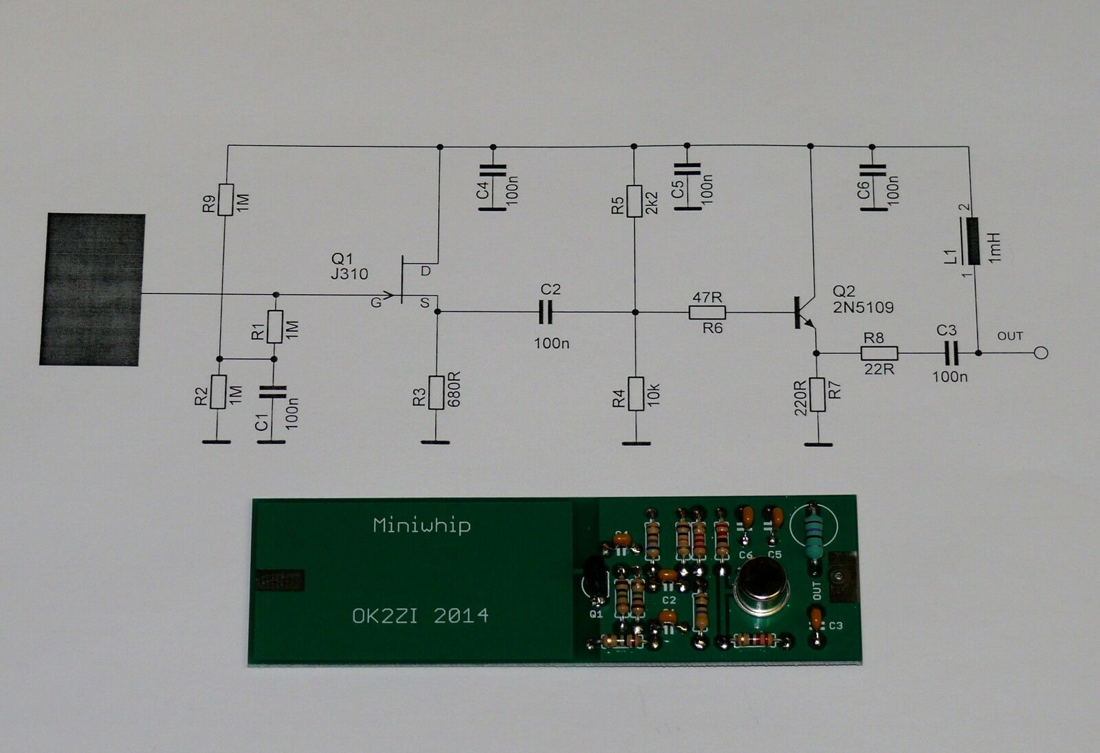 Антенна для радиолюбителя MiniWhip VLF/LF/HF Receiving antenna DIY