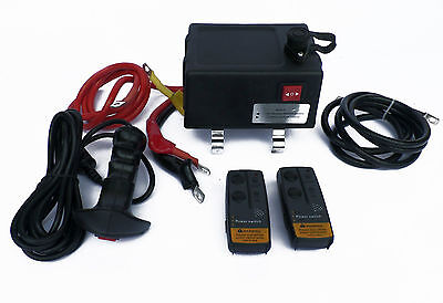 Ultimate Winch solenoid control Box with remotes , 500amp solenoid all cables