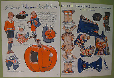 Halloween Review (Bundle of Two 1933 Pictorial Review Magazine Halloween Feature Paper)