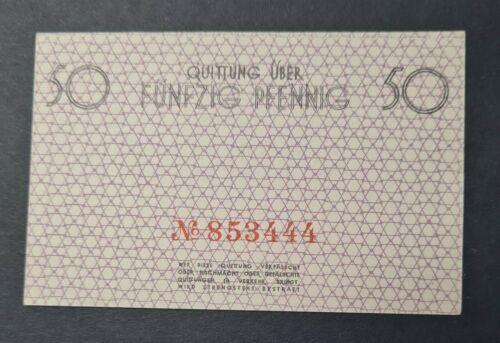 1940 GHETTO 50 PFENNIG Lagergeld Litzmannstadt  BANKNOTE UNC