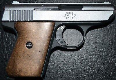 Jimenez JA22 Jennings j22 pistol grips smooth dark brown plastic