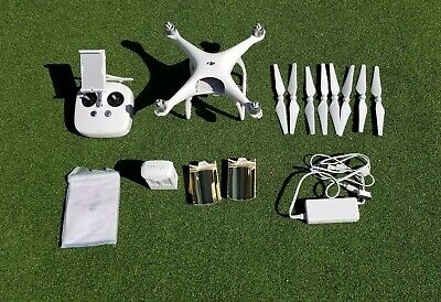 DJI Spirit 4 drone with backpack and range extenders