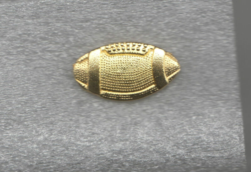 High School Varsity Football Team Letterman Jacket Pin metal gold tone
