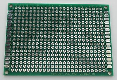 1248 Double Sided Pcb Proto Perf Board Through Plated 57 5x7 Cm Usa Ship