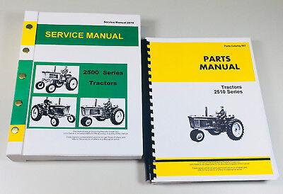 Service Parts Manual Set For John Deere 2510 Tractor Repair Shop Shop Book