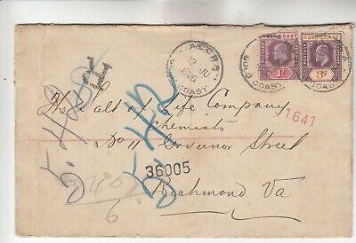 Gold Coast Registered Cover w/ corner of left stamp missing