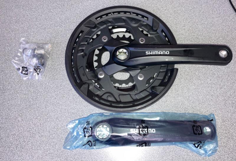 Shimano Alivio T4010 Crankset -  26/36/48T / Black / 175mm