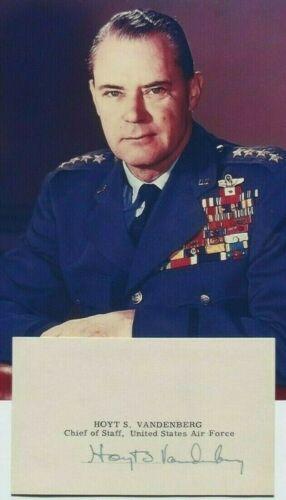 General Hoyt S. Vandenberg C.I.A Director, Chief Of USAF Autograph Card